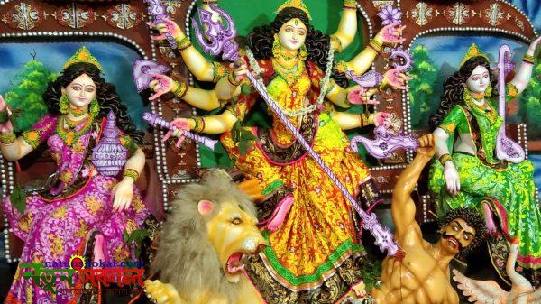কপিলমুনি কাশিমনগর সাধুপাড়া দূর্গা মন্দিরে নান্দনিক আয়োজন কমিটির